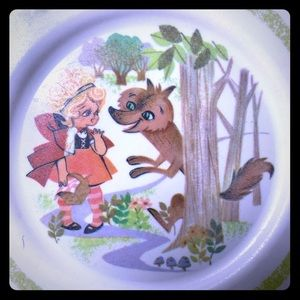 Vintage LITTLE RED RIDING HOOD CHILDS PLATE Oneida